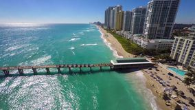 Sunny Isles Beach video aéreo FL almacen de metraje de vídeo