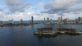 Sunny Isles photo took by a drone royalty free stock photo