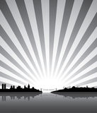 Sunny Istanbul silhouette Stock Image