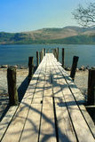 Lake district pier, Cumbria Royalty Free Stock Image