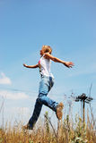 Sunny jump Royalty Free Stock Photography