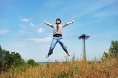 Sunny jump Royalty Free Stock Photos