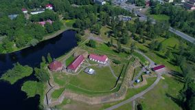 Sunny June day in the fortress Korela. Priozersk, Russia. Sunny June day in the fortress Korela. Priozersk. Russia stock footage