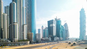 Sunny 4k time lapse from dubai business bay Stock Images