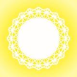 Sunny Lace Doily Border-Rahmen Lizenzfreies Stockfoto