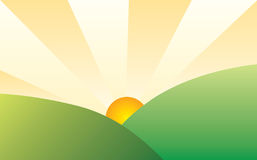 Sunny landscape. A vector illustration of a sunny landscape Stock Illustration