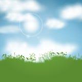 Sunny landscape. Spring background with a sunny landscape Stock Photography