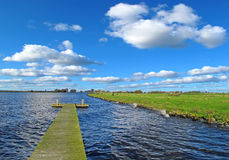 Sunny landscape in Holland Stock Photos