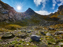 Sunny landscape in the mountains Stock Photography