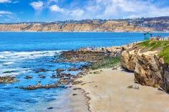 La Jolla Cove in San Diego, Southern California Royalty Free Stock Image