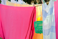Sunny laundry Royalty Free Stock Photography