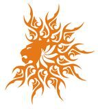 Sunny lion head symbol Royalty Free Stock Photography