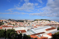 Sunny Lisbon. View of Lisbon from the observation platform royalty free stock photos