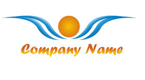 Sunny Logo for a tourism agency Stock Photography