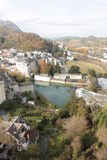 Sunny Lourdes town in France. Stock Photography