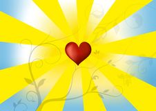 Sunny love backrgound Royalty Free Stock Photography