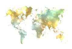 Sunny map of the world. Royalty Free Stock Images