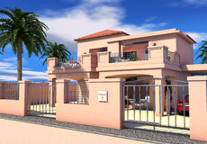 Sunny Mediterranean holiday villa Royalty Free Stock Photo