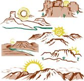 Sunny Mesas Illustration Libre de Droits