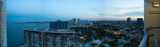 Sunny miami Beach Panorama Stock Photography