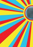 Sunny Mic Disco Background. With Area For Text Stock Images