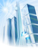 Sunny modern city Royalty Free Stock Images