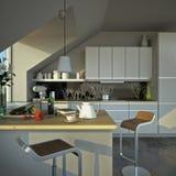 Sunny modern kitchen Stock Image