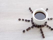 Sunny mood with espresso coffee Royalty Free Stock Image