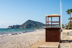 Altea beach and bay Royalty Free Stock Images