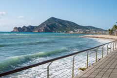 Altea beach and bay Stock Images