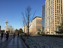 A sunny morning in Beijing. After the first snow royalty free stock images