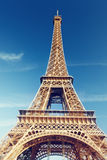 Sunny morning and Eiffel Tower, Paris Royalty Free Stock Photo