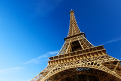 Sunny morning and Eiffel Tower Royalty Free Stock Images