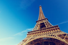 Sunny morning and Eiffel Tower, Paris Royalty Free Stock Images