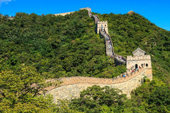 Sunny morning at the great wall in China Royalty Free Stock Photos