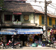 A Sunny Morning in Hanoi Street Royalty Free Stock Images