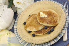 Sunny Morning Pancake Breakfast Royalty Free Stock Photography