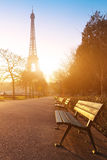 Sunny morning in Paris Stock Image