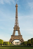 Sunny morning in Paris and Eiffel Tower, Paris, France. Stock Image