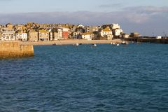 A sunny morning in St Ives Stock Photography