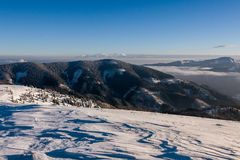 Sunny morning in winter mountains - Greater Fatra, Slovakia Royalty Free Stock Image