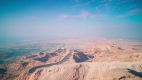 Sunny mountain 4k time lapse from al ain near dubai Royalty Free Stock Photo