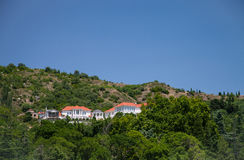 Sunny mountain landscape in Crimea Royalty Free Stock Photo