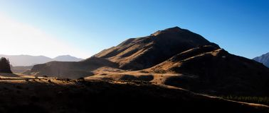 Sunny Mountain Peak Royalty Free Stock Photography