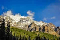 Sunny mountain range view stock image