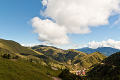 Sunny mountain view. Beautiful mountain view with sunny days Royalty Free Stock Photography