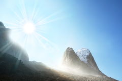 Sunny mountains Royalty Free Stock Photography