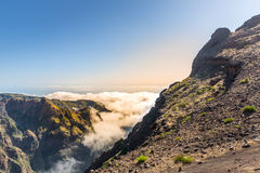 Sunny mountains in clouds Royalty Free Stock Images