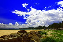 Sunny Mui Ne Beach. Arkivbilder