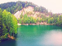 sunny nad jezioro Obraz Royalty Free